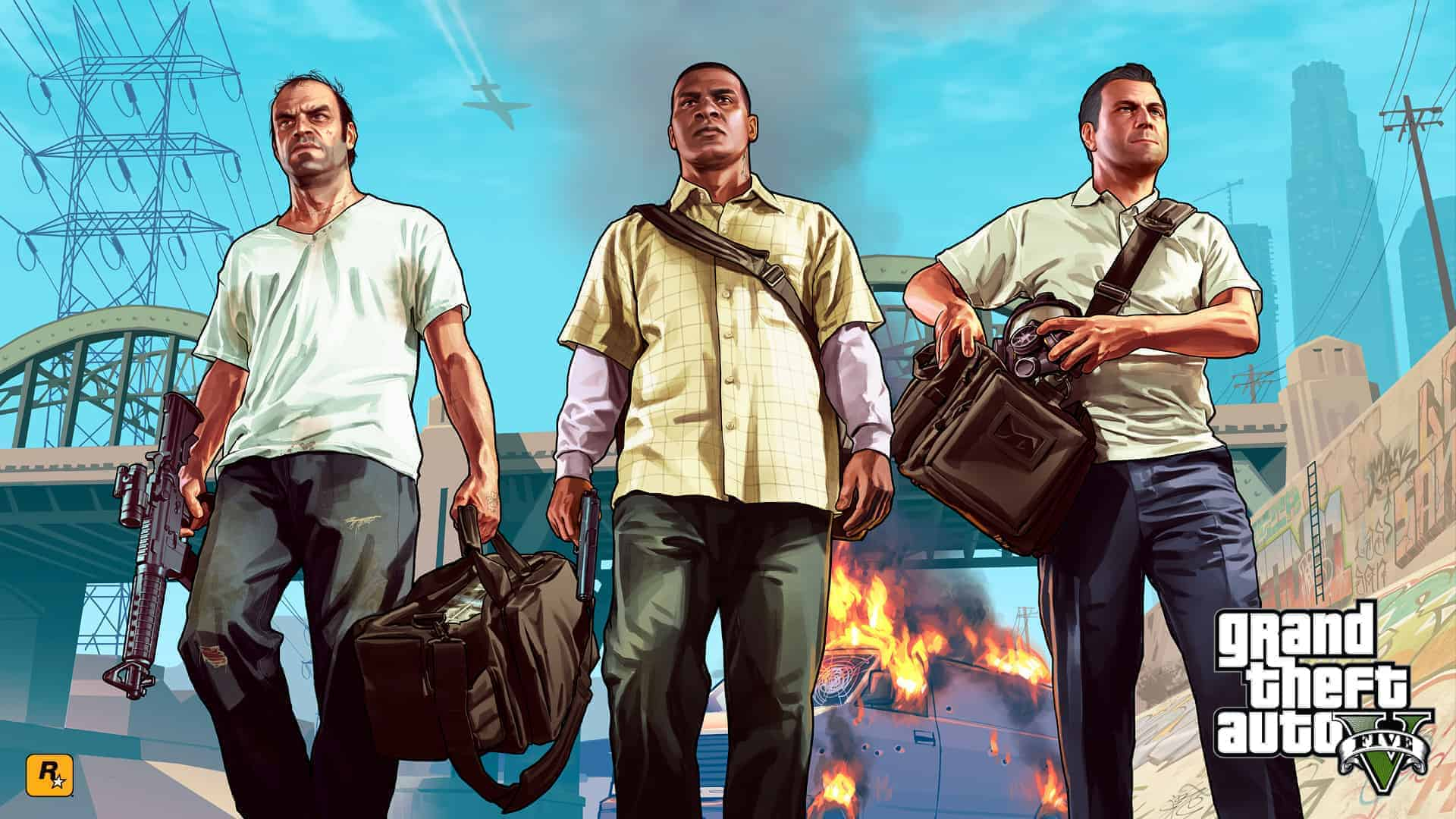 Grand Theft Auto V Poster HD Wallpaper 2013