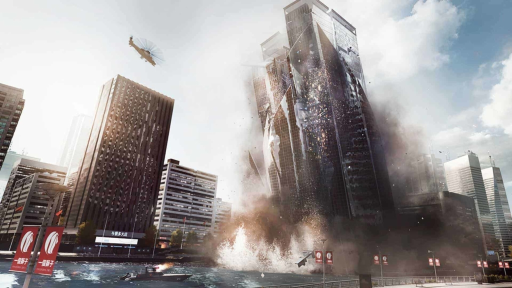 Battlefield 4 building collapse