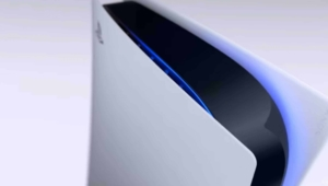 Sony PlayStation 5 top end view