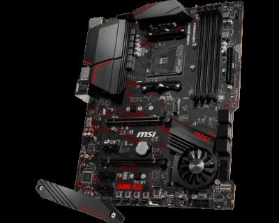 MSI X570 GAMING PLUS Angled Full View
