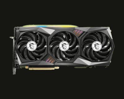 MSI GeForce RTX 3070 8GB GAMING X TRIO - Flat Fan View
