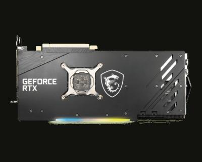 MSI GeForce RTX 3070 8GB GAMING X TRIO - Backplate View