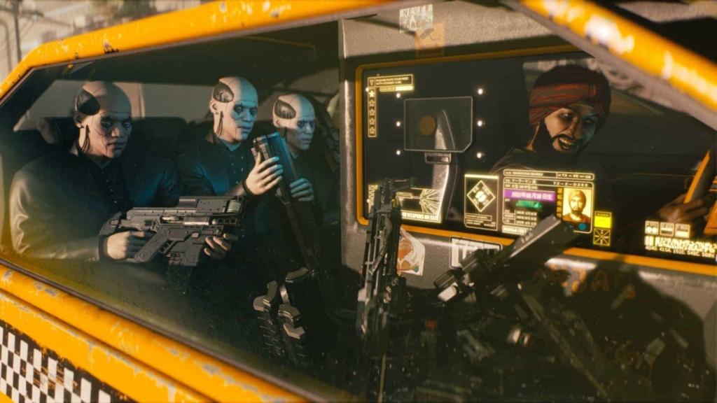 Cyberpunk 2077 In-game scene