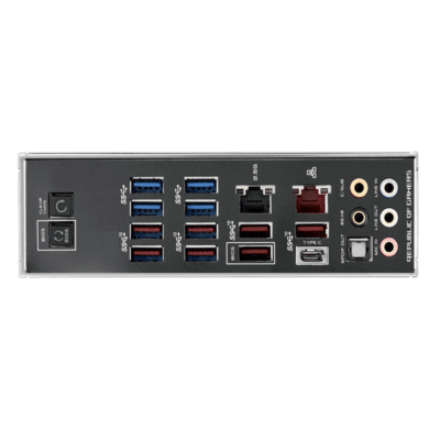 ASUS ROG Crosshair VIII Hero - non-WiFi IO Panel View
