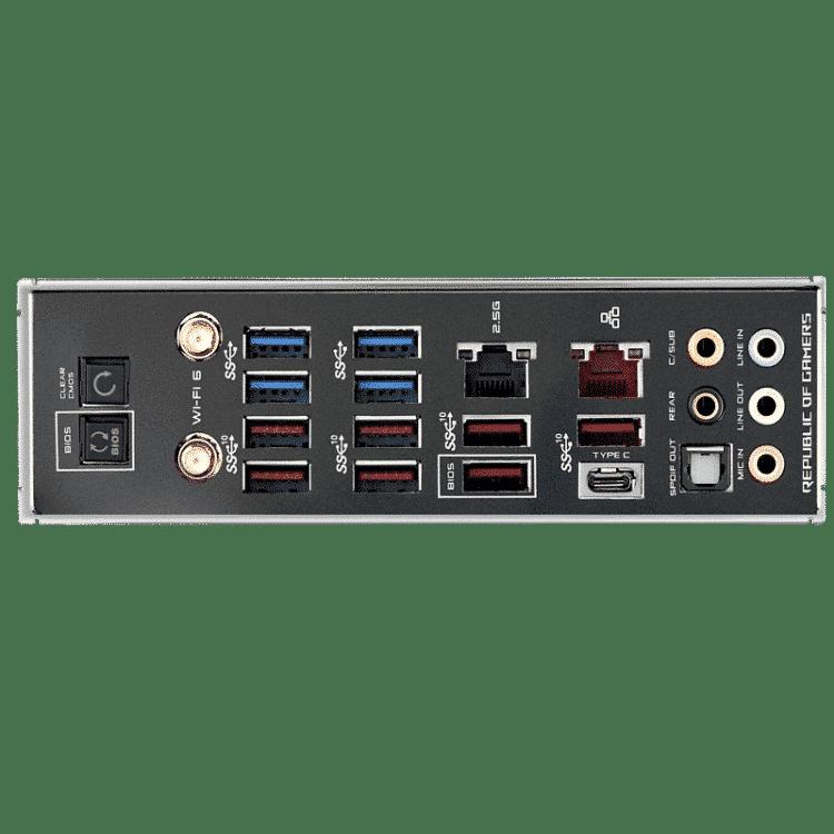 ASUS ROG Crosshair VIII Hero - WiFi IO Panel View