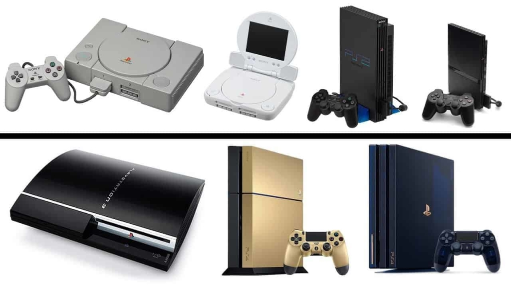 Generations of Playstation consoles
