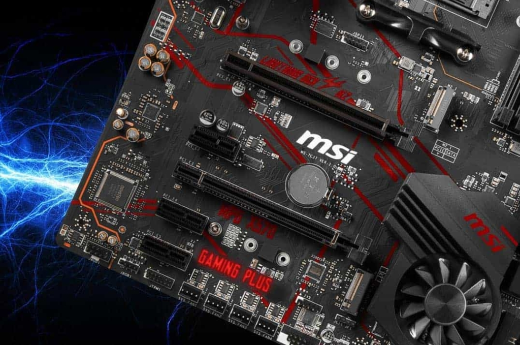 MSI MPG X570 GAMING PLUS - Close Up PICe View