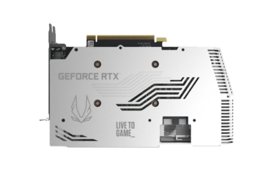 ZOTAC GAMING GeForce RTX 3070 Twin Edge OC White Edition - Backplate View