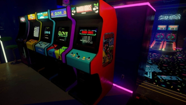 A video game arcade