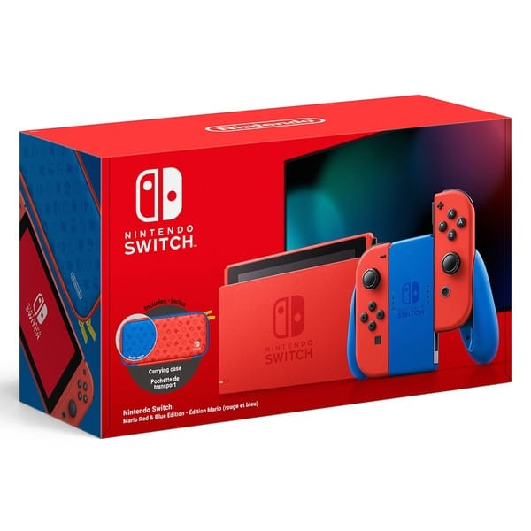 Nintendo Switch Mario Red & Blue Edition Box