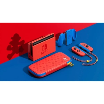 Nintendo Switch Mario Red & Blue Edition In The Box