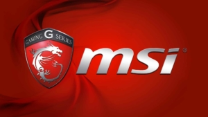 MSI Logo on red background