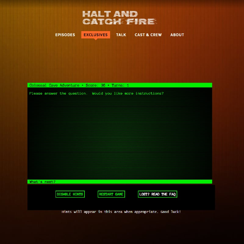 Halt and Catch Fire Adventure Video Game