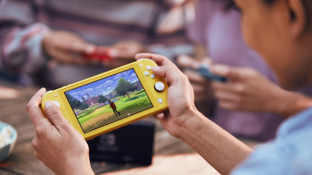 Nintendo Switch Lite in action