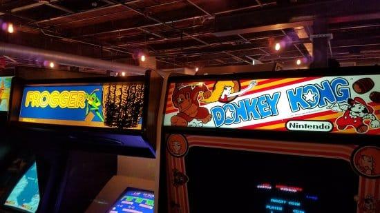 A classic video game arcade