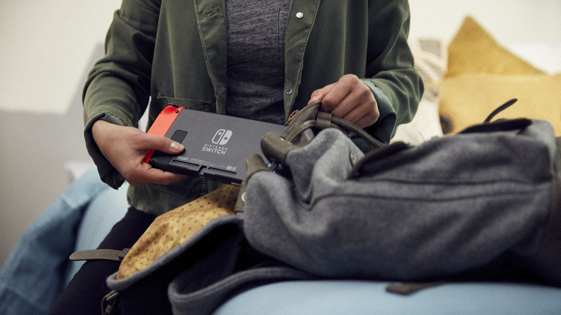 Nintendo Switch Going Into Bag