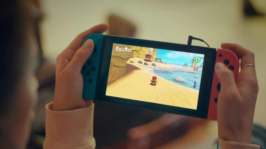 Nintendo Switch In-hand