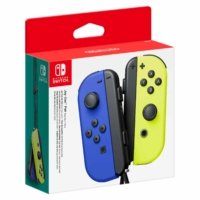 Nintendo Switch Neon Blue and Neon Yellow Joy-Con Controller Set Box View