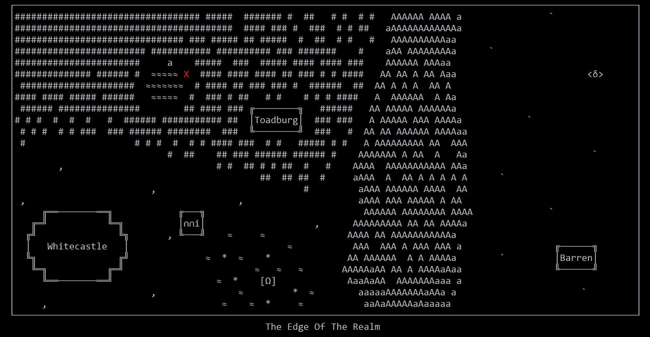 The Edge of the Realm ASCII Game