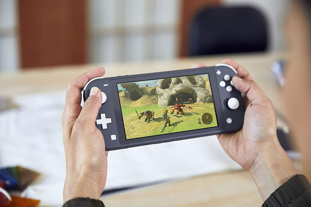 Greay Nintendo Switch Lite Being Played