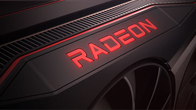 AMD Radeon Logo on GPU