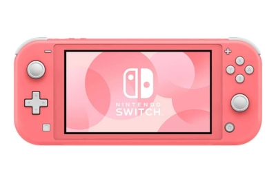 Nintendo Switch Lite Coral Front View