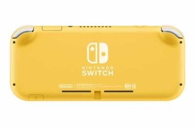 Nintendo Switch Lite Yellow Back View