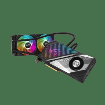 ASUS ROG Radeon RX 6800 XT Strix LC Angled View