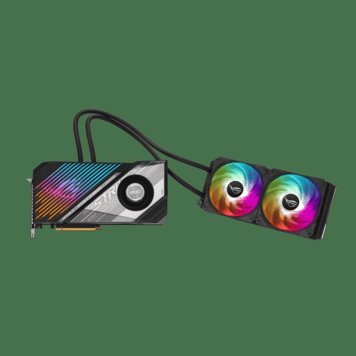 ASUS ROG Radeon RX 6800 XT Strix LC Flat Card View