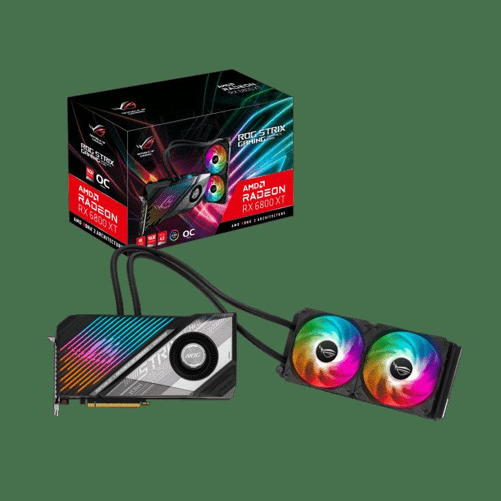 ASUS ROG Radeon RX 6800 XT Strix LC Full Promo View