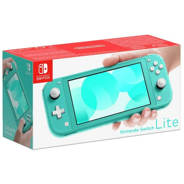 Nintendo Switch Lite Turquoise Box View