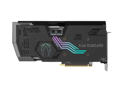 ZOTAC GAMING GeForce RTX 3070 AMP Holo Backplate View
