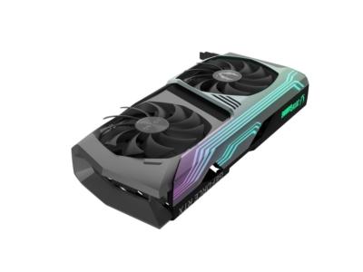 ZOTAC GAMING GeForce RTX 3070 AMP Holo Angled RGB Fan View