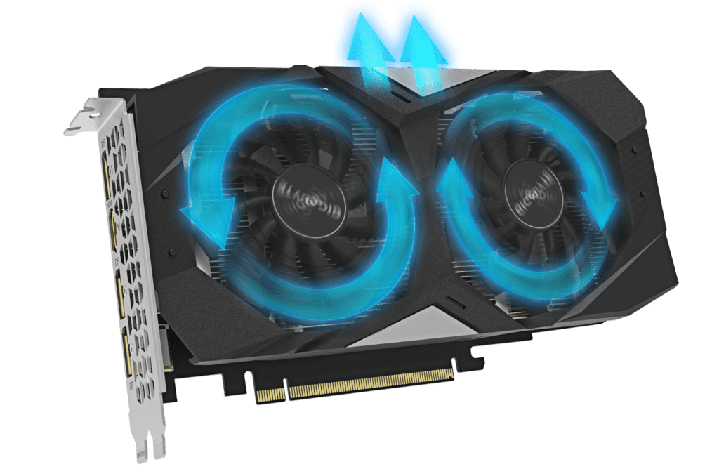 GIGABYTE GTX 1660 SUPER 6GB OC 6G Airflow Illustration