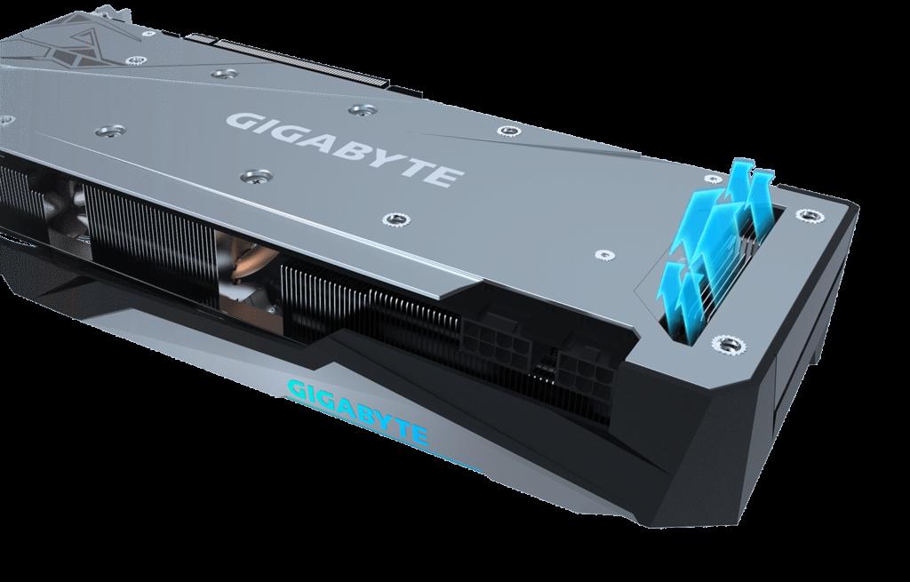 GIGABYTE Radeon RX 6700 XT GAMING OC 12G Backplate Cooling Illustration