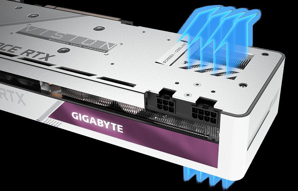 Gigabyte RTX 3070 VISION OC 8G Screen Cooling