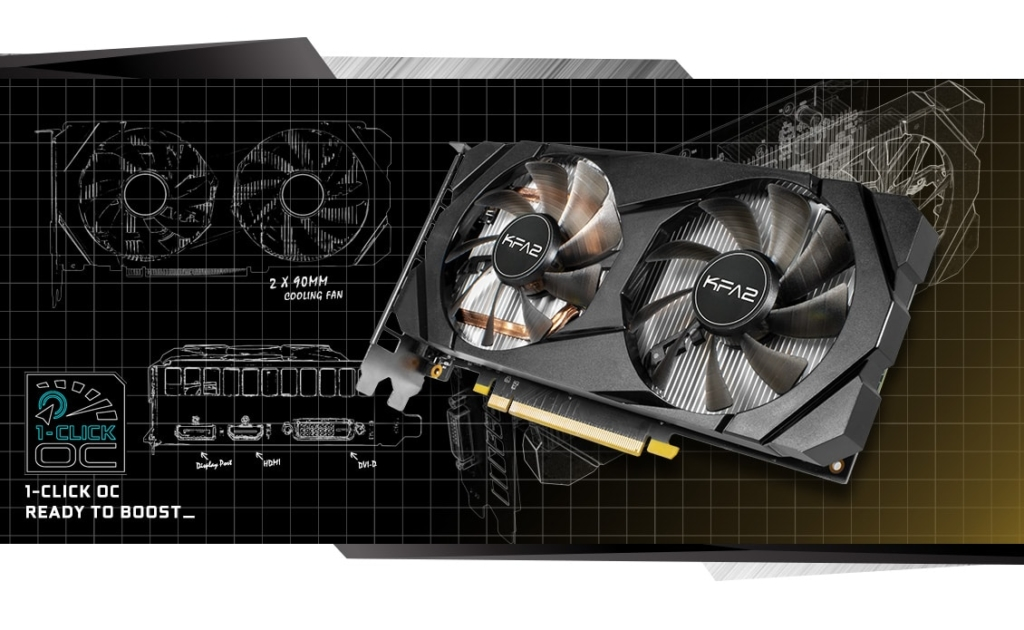 KFA2 GeForce GTX 1660 Super (1-Click OC) Overclock Promo Art
