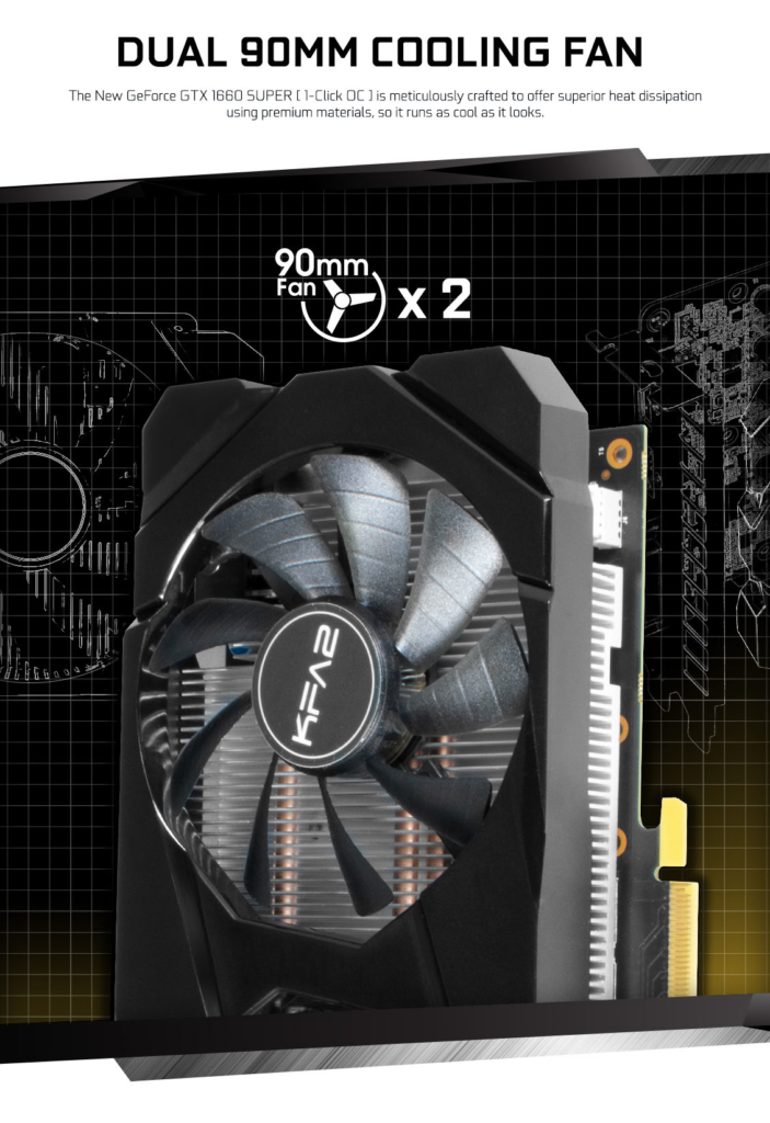 KFA2 GeForce GTX 1660 Super (1-Click OC) Cooling Promo Art