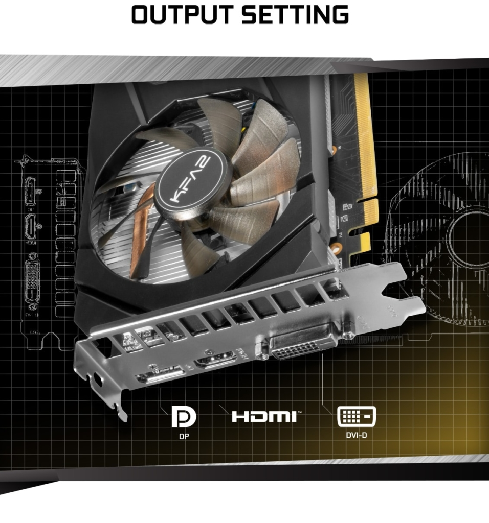 KFA2 GeForce GTX 1660 Super (1-Click OC) Output Promo Art