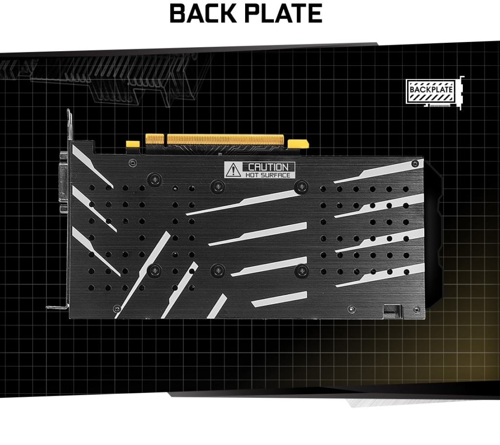 KFA2 GeForce GTX 1660 Super (1-Click OC) Backplate Promo Art