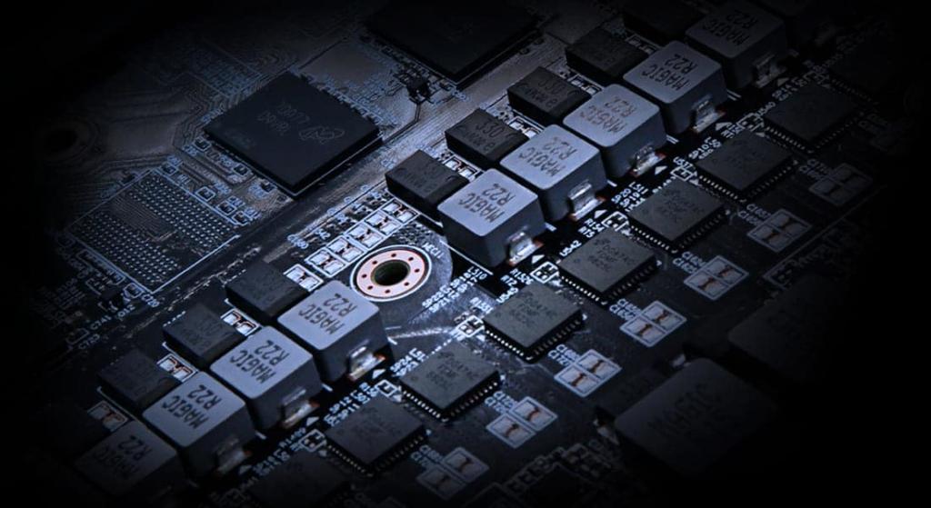 GIGABYTE Radeon RX 6700 XT GAMING OC 12G PCB Illustration