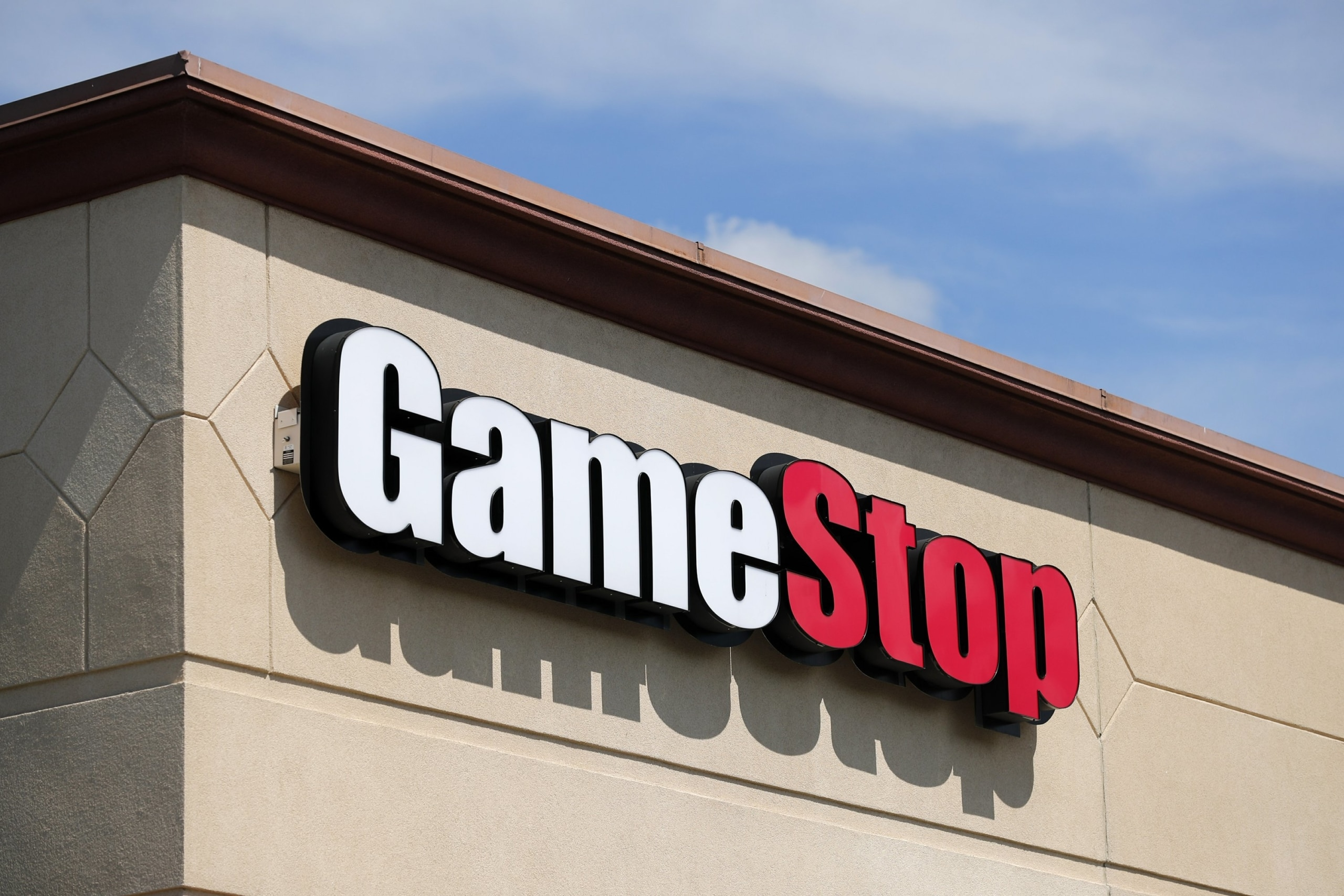 GameStop Logo on a Building