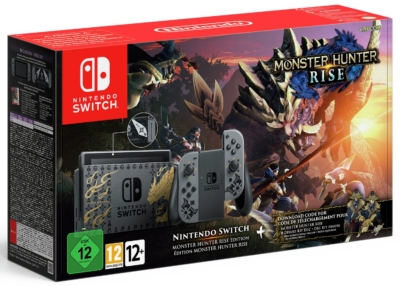 Nintendo Switch MONSTER HUNTER RISE Edition Box View
