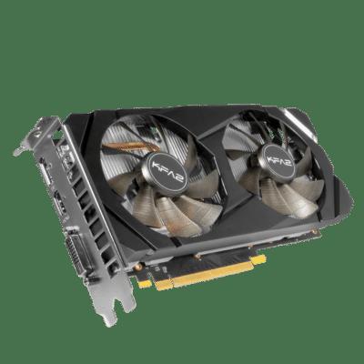 KFA2 GeForce GTX 1660 Super (1-Click OC) Angled Fan View