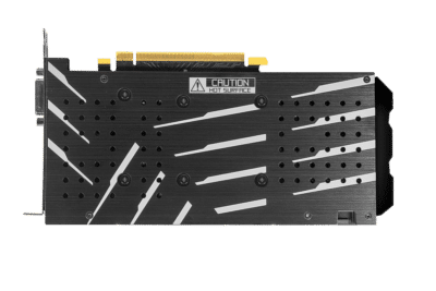 KFA2 GeForce GTX 1660 Super (1-Click OC) Backplate View