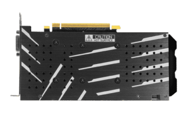 KFA2 GeForce GTX 1660 Super (1-Click OC) Backplate View