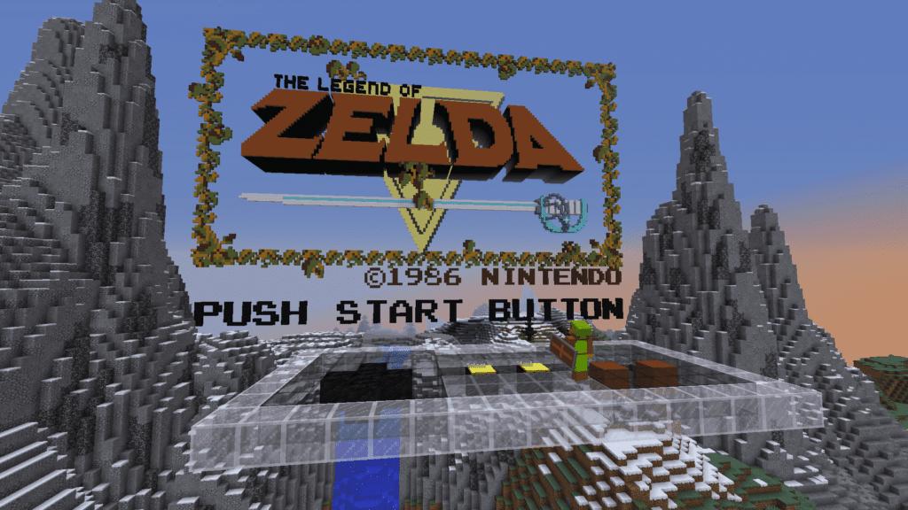 Original 1986 Legend of Zelda Game Start Screen
