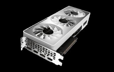Gigabyte RTX 3070 VISION OC 8G Angled Fan View