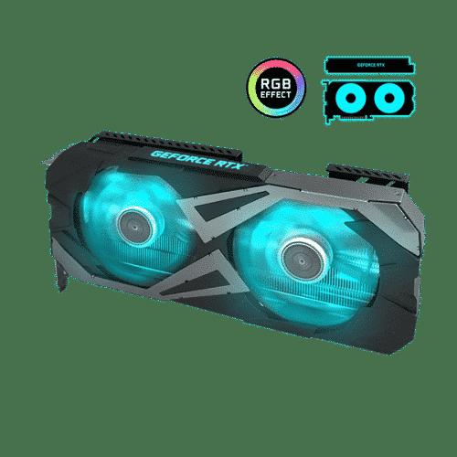 KFA2 GeForce RTX 3060 EX (1-Click OC) Angled View