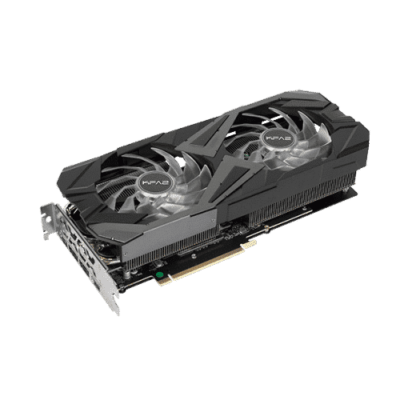 KFA2 GeForce RTX 3070 EX (1-Click OC) Angled View